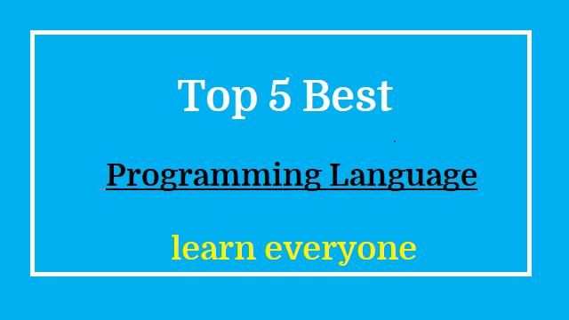 Top 5 Best Programming Language to learn everyone  5 सबसे बढ़िया प्रोग्रामिंग लैंग्वेज सीखने के लिए।