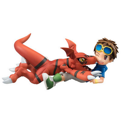 [exclusive] Digimon Tamers – Guilmon & Matsuki Takato non-scale PVC figure set by Megahouse