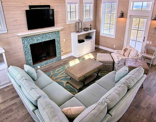 Coastal C Branch Rug Living Room Decor Idea