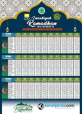 jadwal imsakiyah provinsi jambi