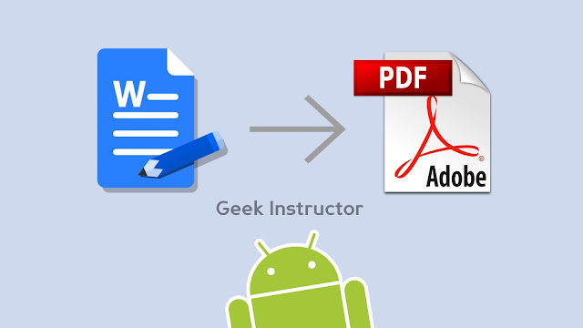 Convert Word document to PDF on Android