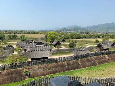 櫓から見た吉野ヶ里歴史公園