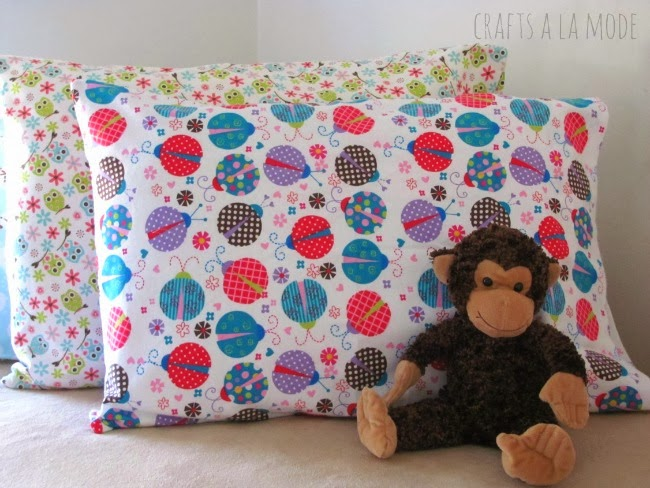 DIY flannel pillowcases for kids