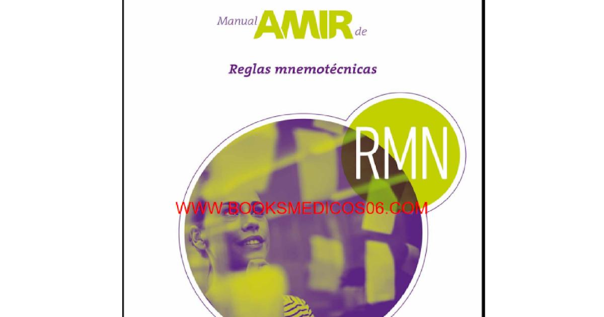 AMIR REGLAS MNEMOTÉCNICAS 3ed - BOOKS MEDICOS 06