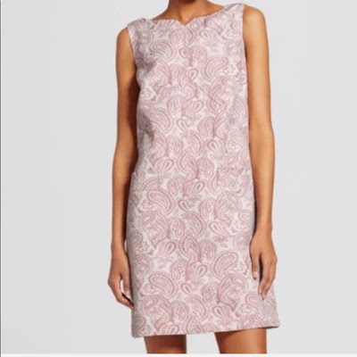 Victoria Beckham for Target pink jacquard shift dress