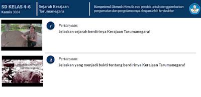 Jawaban Soal Kelas 4-6 , Jelaskan yang menjadi bukti tentang berdirinya Kerajaan Tarumanegara