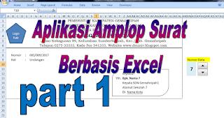 cara membuat amplop surate menggunakan ms excel
