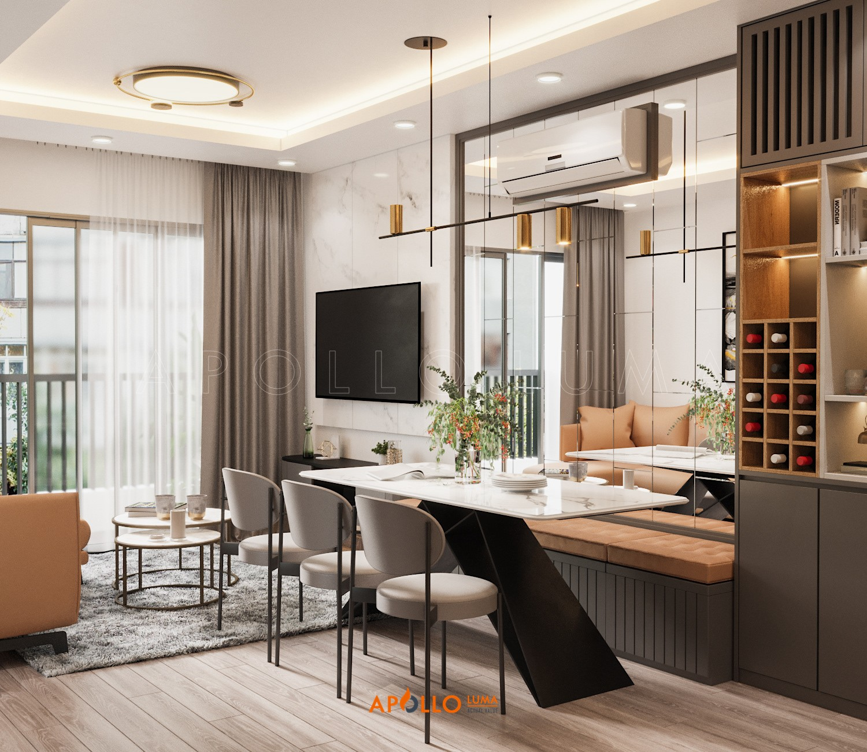 Thiết kế nội thất căn hộ 3 phòng ngủ Vinhomes Ocean Park