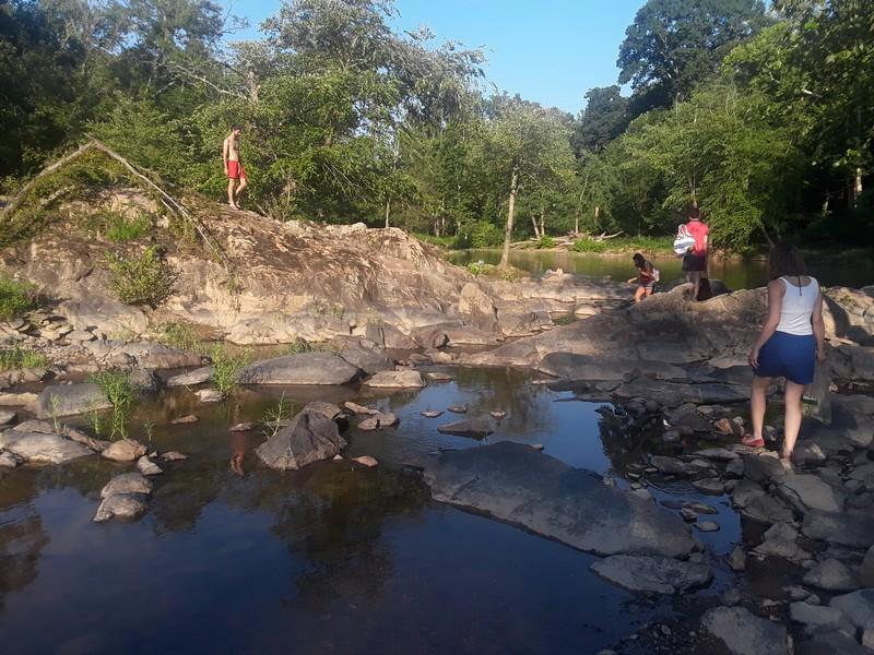 Baignade à Eno River