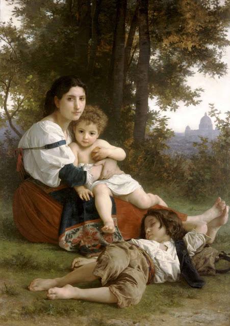 Адольф Вильям Бугро - Мать с детьми (1879)