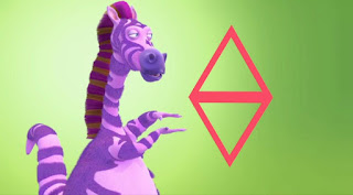 Ziggy the Zebrasaurus rap shapes, Sesame Street Episode 4311 Telly the Tiebreaker season 43
