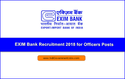 EXIM Bank Recruitment 2018 for Officers Posts