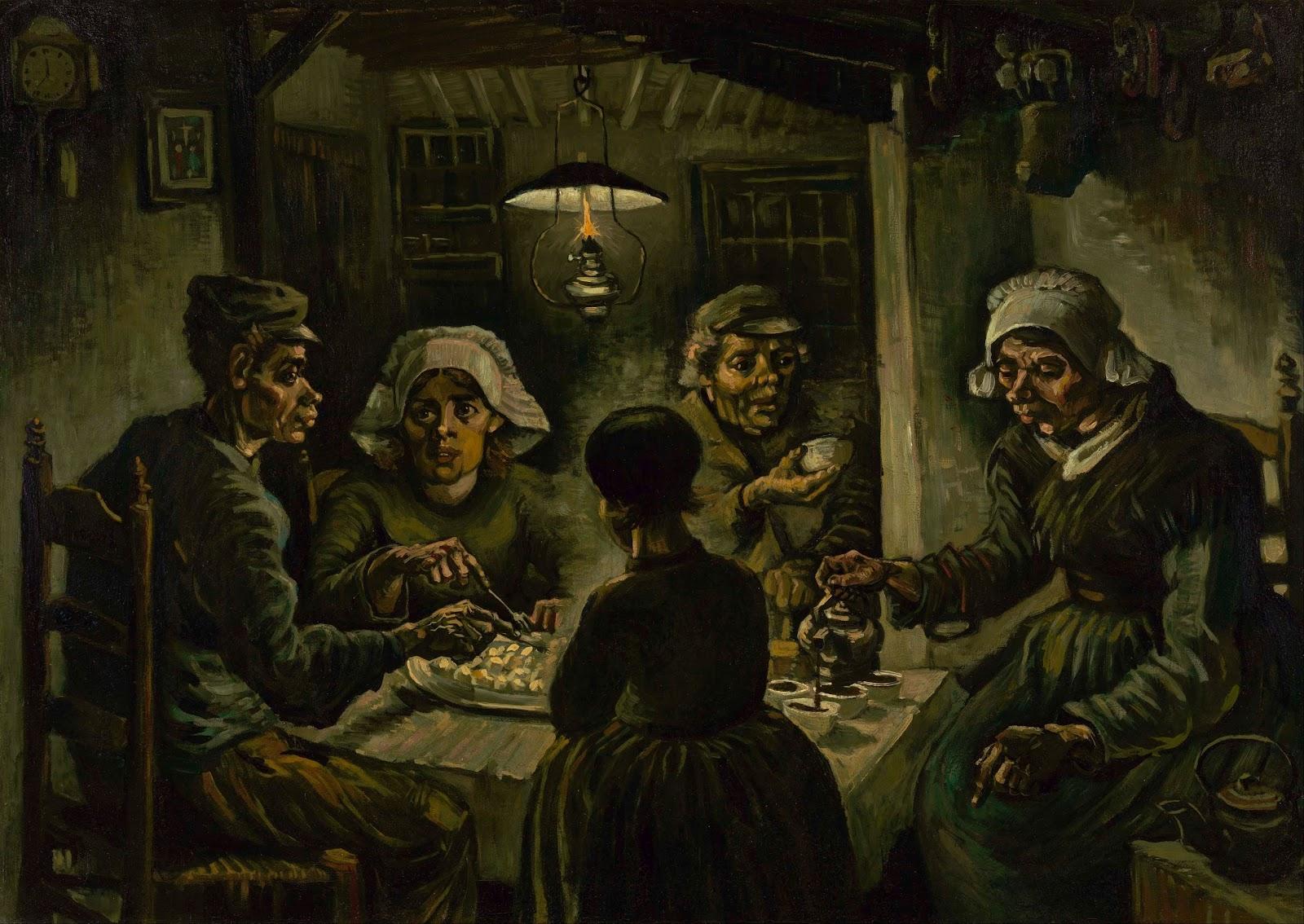 ヴァン・ゴッホの馬鈴薯を食べる人々