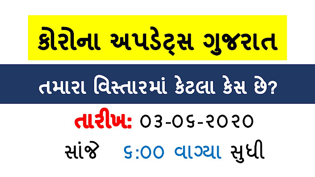 Gujarat corona Update date 03-06-2020 Evening 05-00 PM