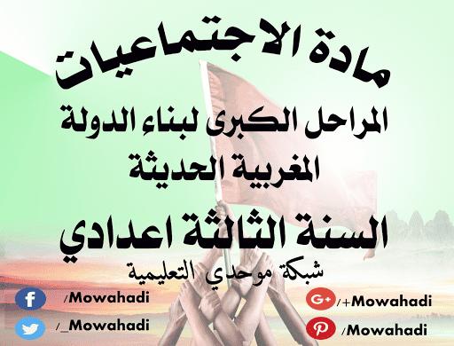 درس المراحل الكبرى لبناء الدولة المغربية الحديثة للسنة الثالثة اعدادي
