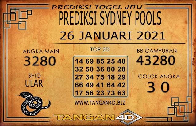 PREDIKSI TOGEL SYDNEY TANGAN4D 26 JANUARI 2021