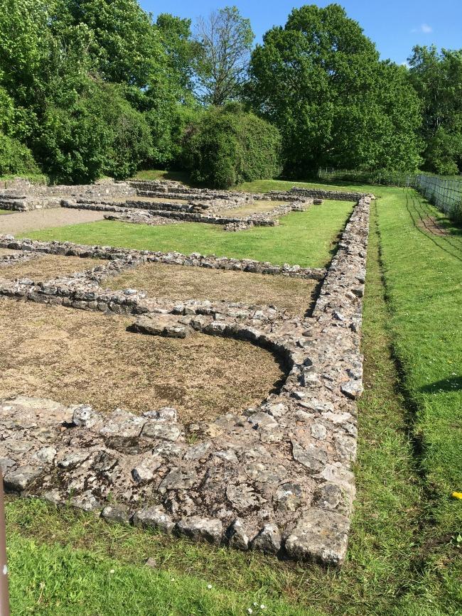 Roman ruins, low walls