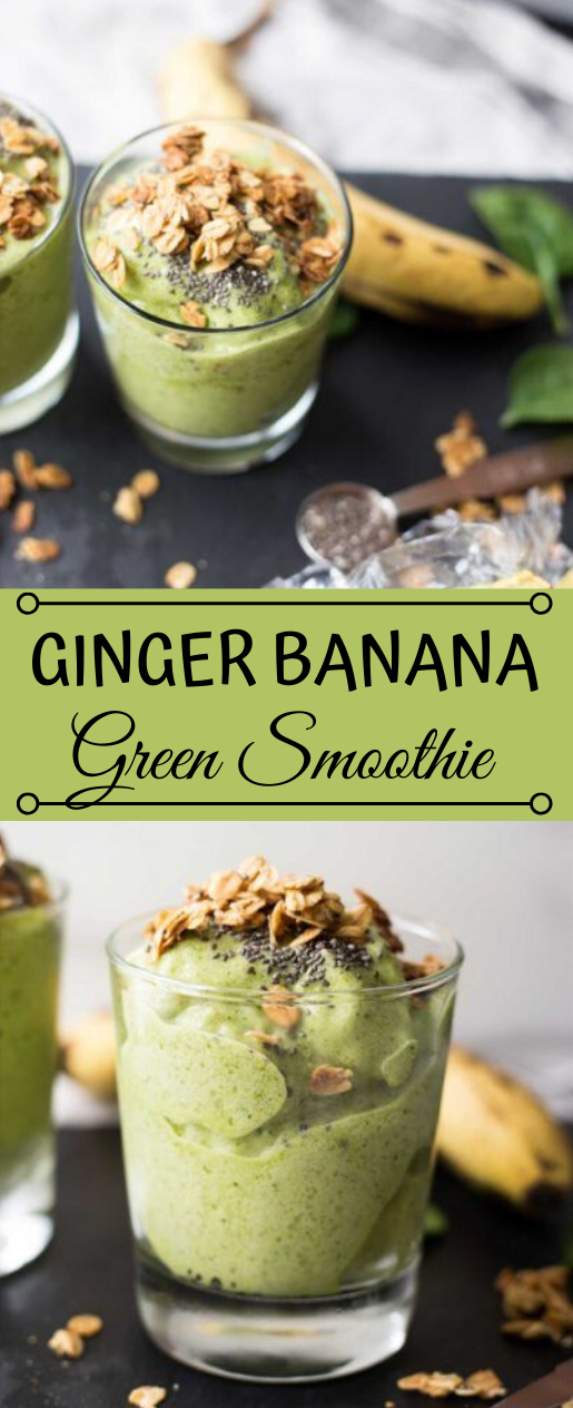 Ginger Banana Green Smoothie #drink #smoothie #banana #easy #party