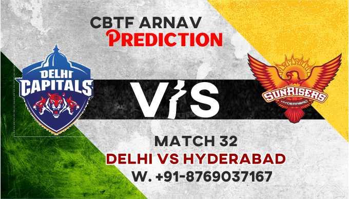 IPL 2021 DC vs SRH IPL T20 33rd Match 100% Sure Match Prediction Today Tips