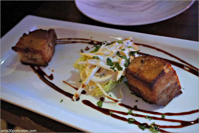 Crispy Dutch Pork Belly del Restaurant Vlaming en Amsterdam