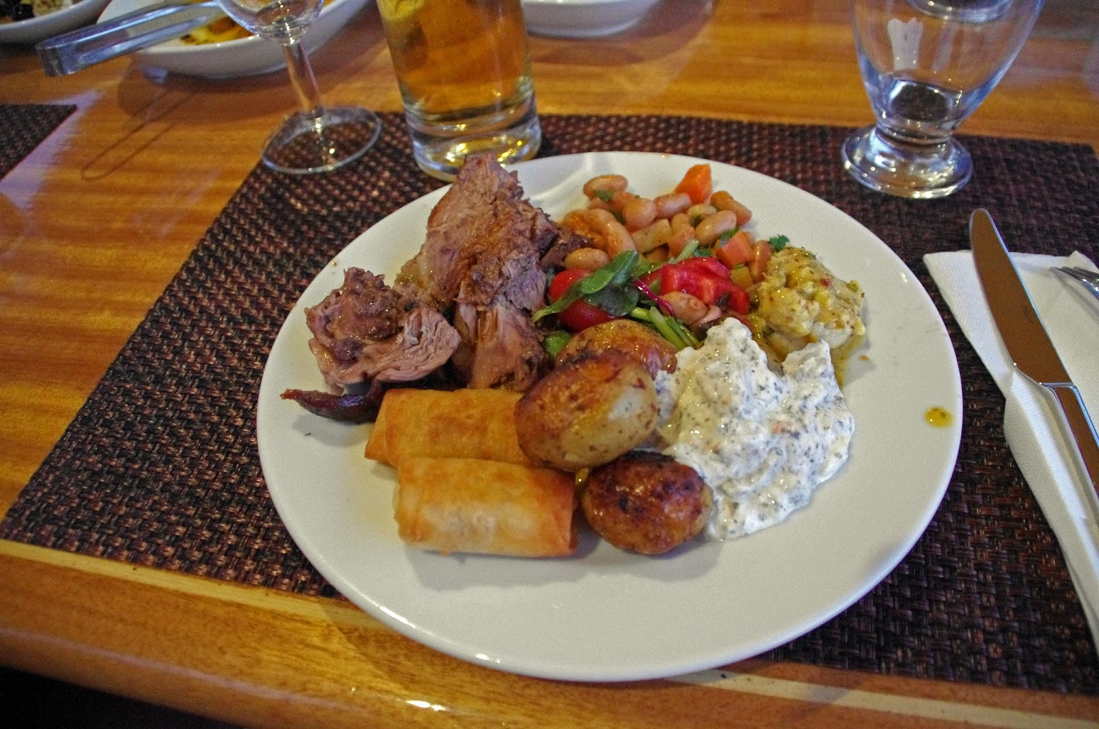 Dinner in Turkey when Sailing