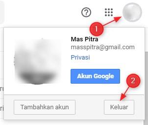 Cara Keluar (Logout) akun Gmail