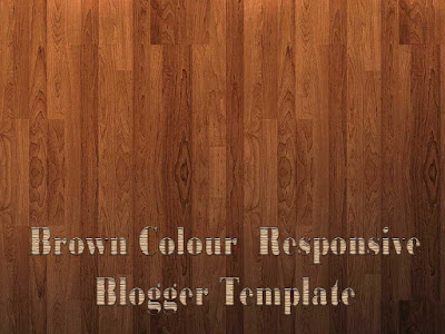 brown colour responsive blogger templates