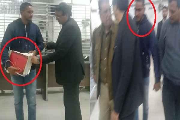 faridabad-tahseel-ln-parashar-caught-youth-with-many-registry-call-police