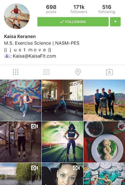 KaisaFit picture workout interview instagram