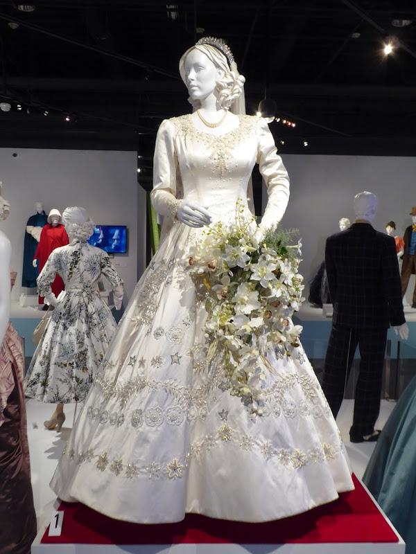 Claire Foy Crown Queen Elizabeth II wedding gown