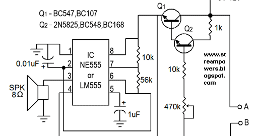 water sensor alarm circuit diagram