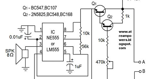 Simple Water Sensor Circuit Diagram Using Ic 555 Super