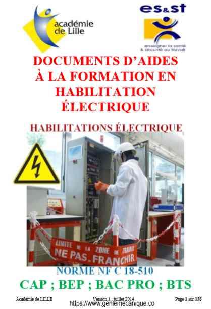 FORMATION EN HABILITATION ÉLECTRIQUE EN PDF