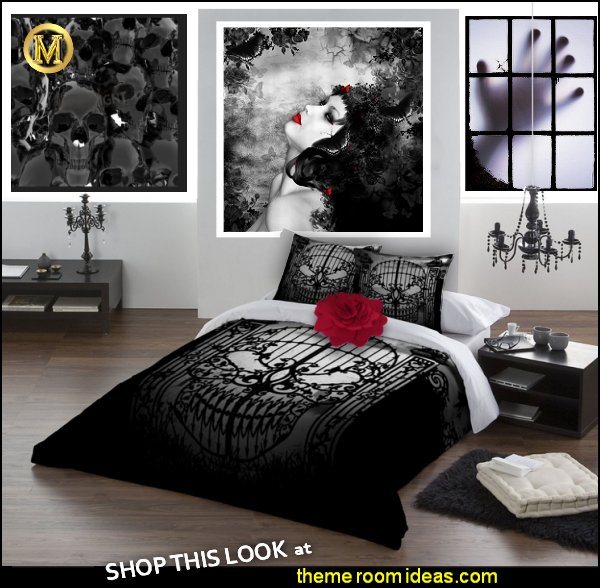 Gothic Wall Murals Vampire Bedroom Ideas Medieval Decor Ideas Goth Decorating Gothic Bedroom gothic bedding  gothic wall decorations gothic themed bedrooms  Alchemy Gothic Abandon No Hope Duvet