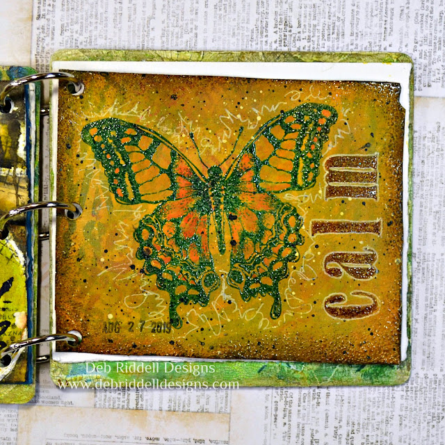 Calm butterfly art journal page