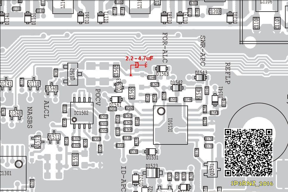 Modifikation ICOM IC-7300, erhöhung der mittleren Leistung