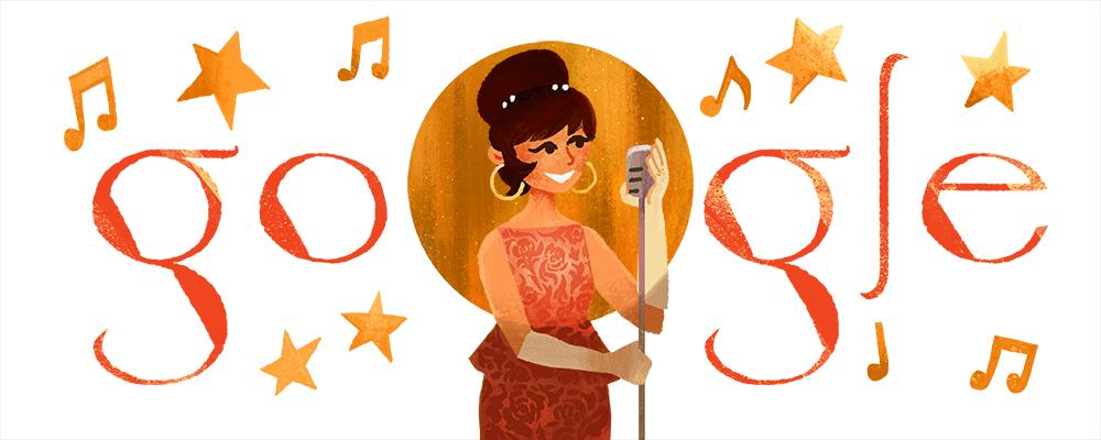 Google Raikan Saloma Dengan 'Doodle' Khas Hari Ini