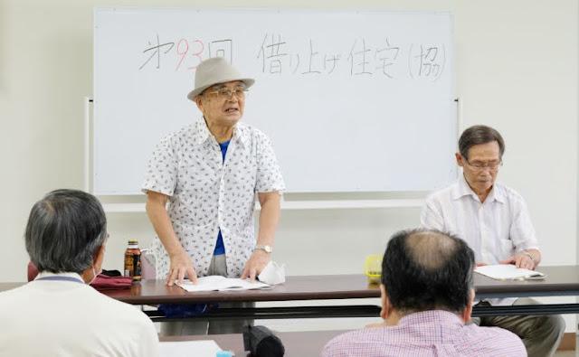 協議会で挨拶する安田秋成代表