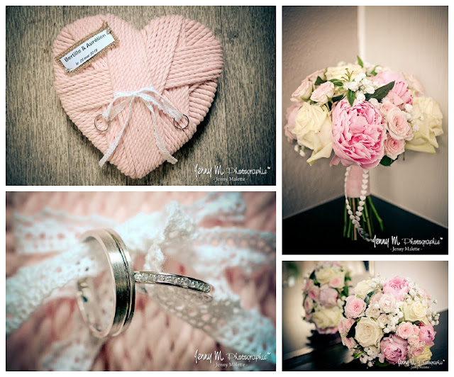 photo alliances, idée porte alliances, idée bouquet tons rosés