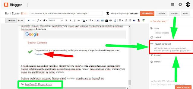 Cara Pemula Agar Artikel Website Terindex Page One Google