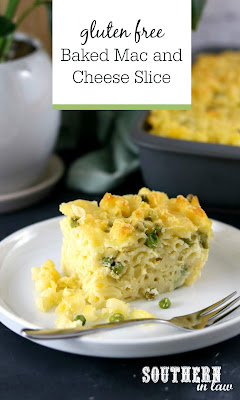 Gluten Free Baked Mac and Cheese Slice Recipe