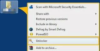 hapus folder dengan unlocker