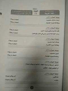 نموذج إجابة امتحان اللغة العربية للثانوية العامة 2019 دور أول 3