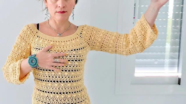 Tutorial Blusa Primavera a Crochet Paso a Paso DIY