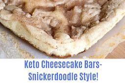 Keto Cheesecake Bars- Snickerdoodle Style!