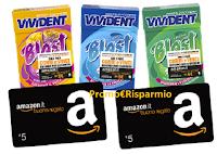 """Concorso """"Vivident Blast & Win"""" : ogni giorno i primi 120 vincono buoni Amazon da 5€"""