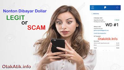 payment proof BigCash (Highhest Paying Cash App) atau di Play Store sekarang dinamakan dengan Make Money: Cash Rewards & Gift Cards