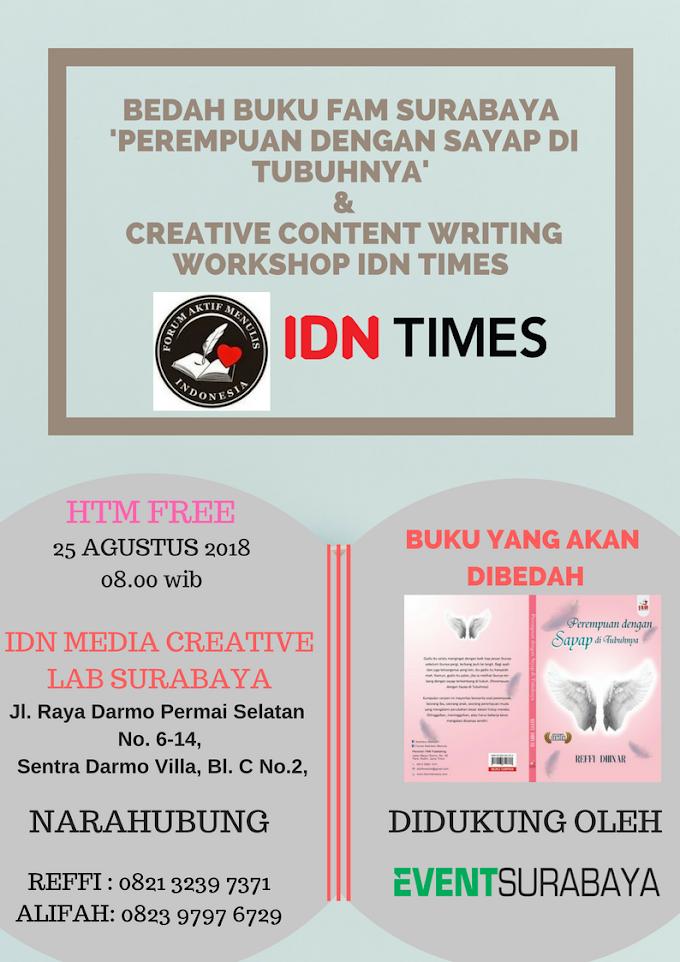 Bedah Buku dan Content Writing Workshop Bareng IDN Times