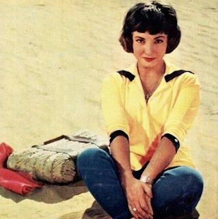 Shadia at the beach in the 1960s
