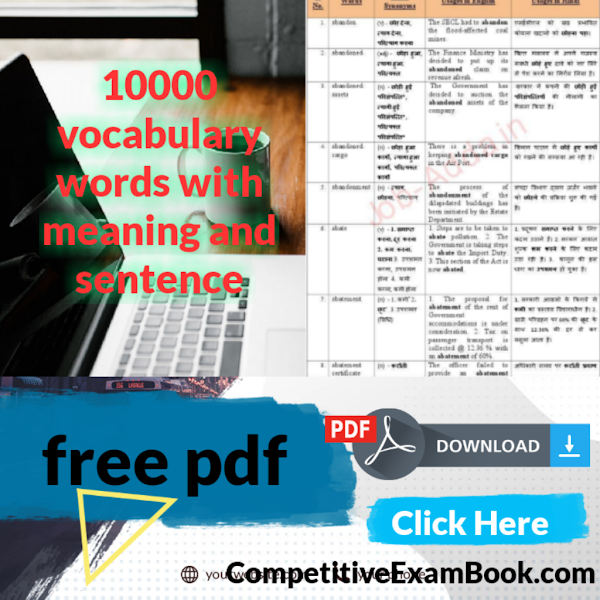 10000 vocabulary words with meaning and sentence pdf download